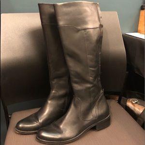 Corso Como Black Leather Tall Boots